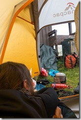 View from the tent by the toilet (Cycle Touring Norway 2016)