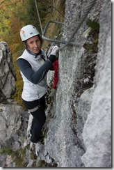Climbing on the other side (Indianer Klettersteig Oct 2016)