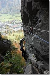 Leonie climbing (Indianer Klettersteig Oct 2016)