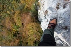 Looking down (Indianer Klettersteig Oct 2016)