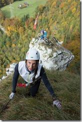 Notausgang makes for smiles (Indianer Klettersteig Oct 2016)