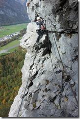 View across to Leonie (Indianer Klettersteig Oct 2016)