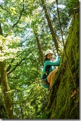 Sam climbing (Salzkammergut Adventures)