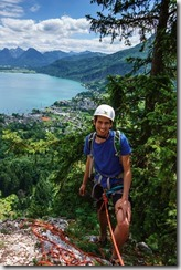 Sebas at the top (Salzkammergut Adventures)