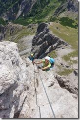 Climbing (Saulakopf Klettersteig)
