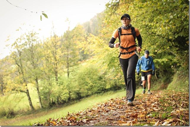 Leonie running (Pölven trail)