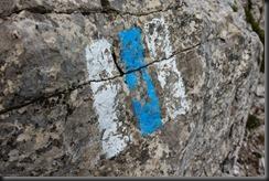 A marker (Karhorn Klettersteig)