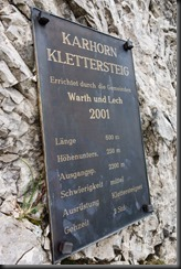 At the beginning of the klettersteig (Karhorn Klettersteig)