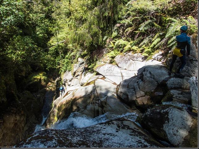 Gina abseiling (Canyoning Waterfall Creek)