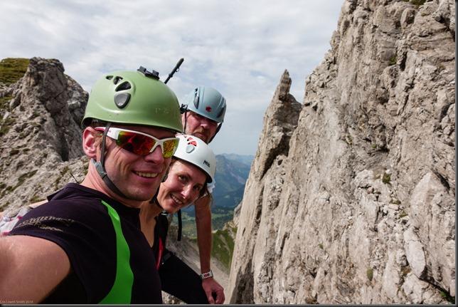 Us at the end of the klettersteig (Karhorn Klettersteig)