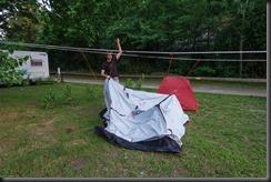 Constructing the tent (Flims, Switzerland)
