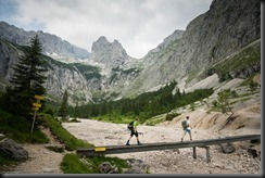 Johannes and Brendan walking (Zugspitze)