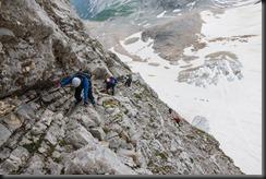 Johannes leads the way (Zugspitze July 2018)