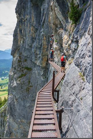 On the flims klettersteig (Flims, Switzerland)