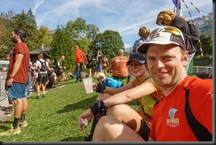 Leonie and Cris after the race (Humani Trail 2018)