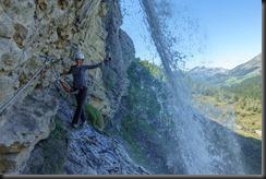 Leonie and waterfall (Humani Trail 2018)