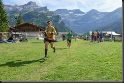 Leonie finishing the race (Humani Trail 2018)