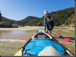 Arriving at the beach (Seakayaking Abel Tasman NP)