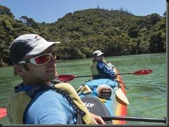 Cris and Katie in shag harbour (Seakayaking Abel Tasman NP)