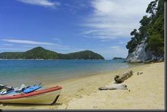 Kayak on the beach (Seakayaking Abel Tasman NP)