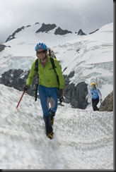 Chris and Em reaching Terra Nova Pass (Mountain rafting Dec 2018)