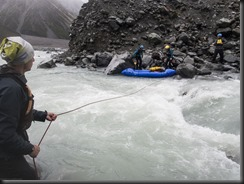 Crossing the St Winifred Stream near the confluence (Mountain Rafting Dec 2018)