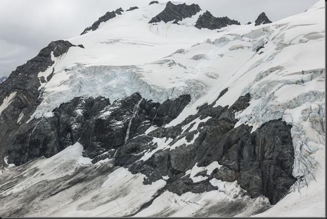 View somewhere towards Dennistoun Peak (Mountain rafting Dec 2018)