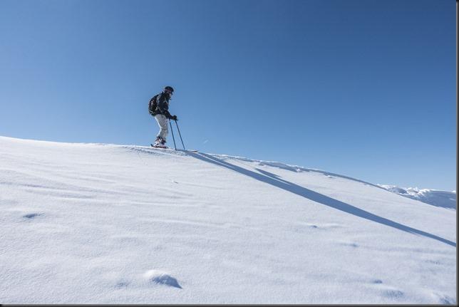 Johannes about to descend from Schafzoellen