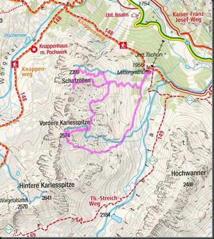 Ski touring Kuehtai 2019 - Schafzoellen and Vordere Karlesspitze