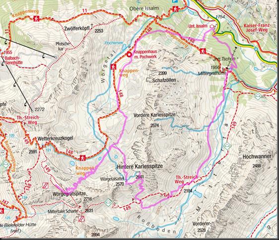 Ski touring Kuehtai 2019 - Hintere Karlesspitze