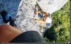 Julie climbing (Climbing in Arco)