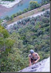 Phil climbing (Climbing in Arco)