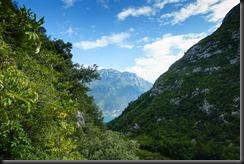 View down to Lake Garda (Climbing in Arco)