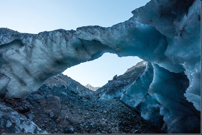 Amazing ice arch (Mountain rafting Dec 2018)