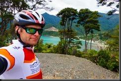 At Okiwi Bay (Cycling Marlborough Sounds)