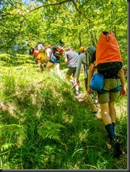 Canyoners going hiking (Canyoning Italy 2019)