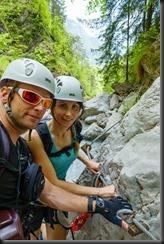 Cris and Leonie (Pirknerklamm Klettersteig)