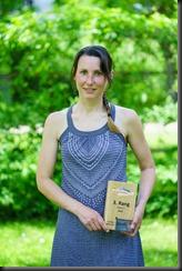 Leonie and her prize (Dolomitenrundfahrt)