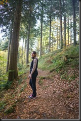 Leonie walking near Kandel
