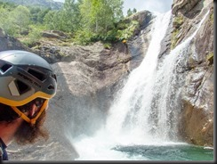 Pattrick watches Craig abseiling (Canyoning Italy 2019)
