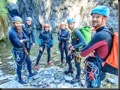 The team (Canyoning Italy 2019)
