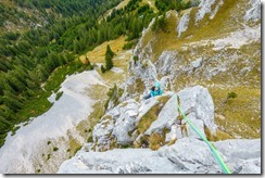 Ari climbing (Climbing Tannheimer Tal 2019)