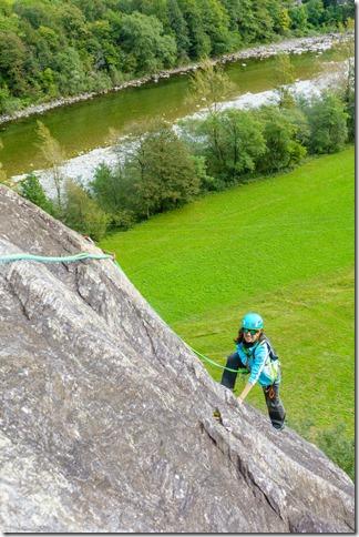 Ari climbing (Climbing in Ticino Oct 2019)