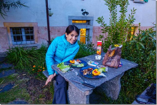 Ari eating (Climbing in Ticino Oct 2019)