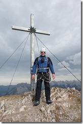 At the summit of  Erlspitze (Exploring Karwendel)