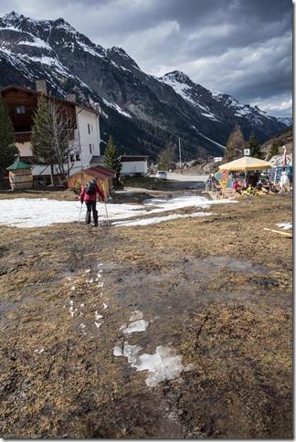 Craig navigating springtime (Ski touring Linker Fernerkogel, Austria)