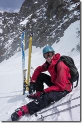Craig sitting down (Ski touring Linker Fernerkogel, Austria)