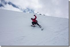 Craig skiing down (Ski touring Linker Fernerkogel, Austria)