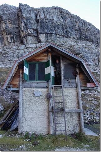 Cris in the biv (Brenta Dolomites)