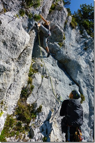 Julie begins climbing (Löwenzähne Westkante Sept 2019)